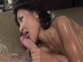 Jackie Lin Sucks off Horny Customer at Nuru Massage